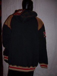 VarCity Men/'s Hoodies in Black with tan Sizes 2X 3X and 5X  NEW with Tags