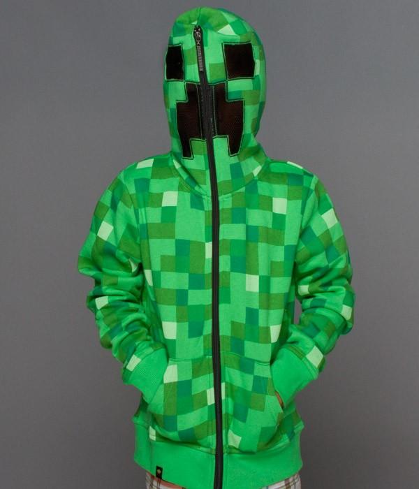 Minecraft creeper hoodie youth