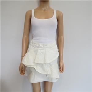 a20b5e5b5 NWT Isabel Marant Etoile Ecru 'Coati' Cotton Denim Ruffle Mini Skirt ...