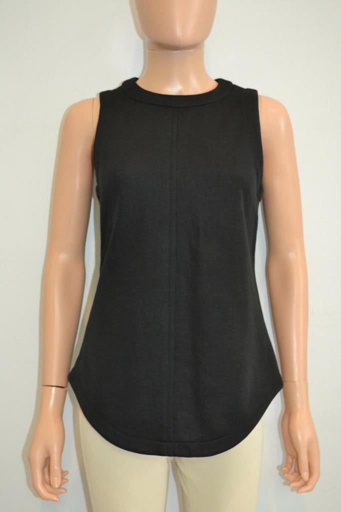 6ee2bd787fd4a Image is loading Proenza-Schouler-Black-Cotton-Blend-Sleeveless-Blouse-Top-