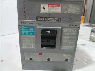 Trip Unit 3000-6000 Removed off LXD63B600 Breaker Siemens 600A 3P Magnetic Adj