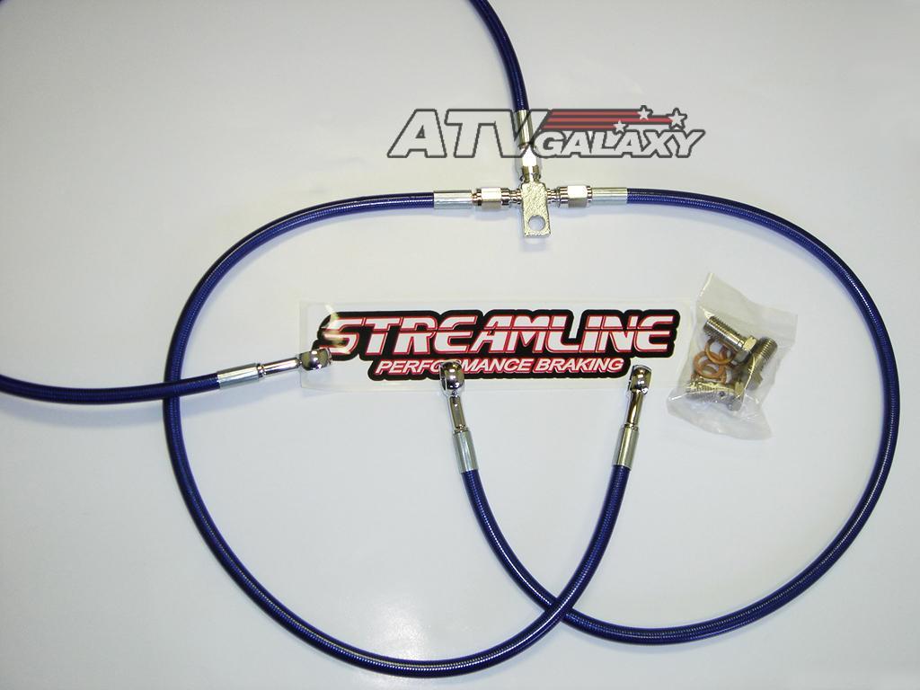 """2/"""" Braided Front Brake Lines Honda TRX450R TRX 450 450ER 04 05 06 07 Streamline"""