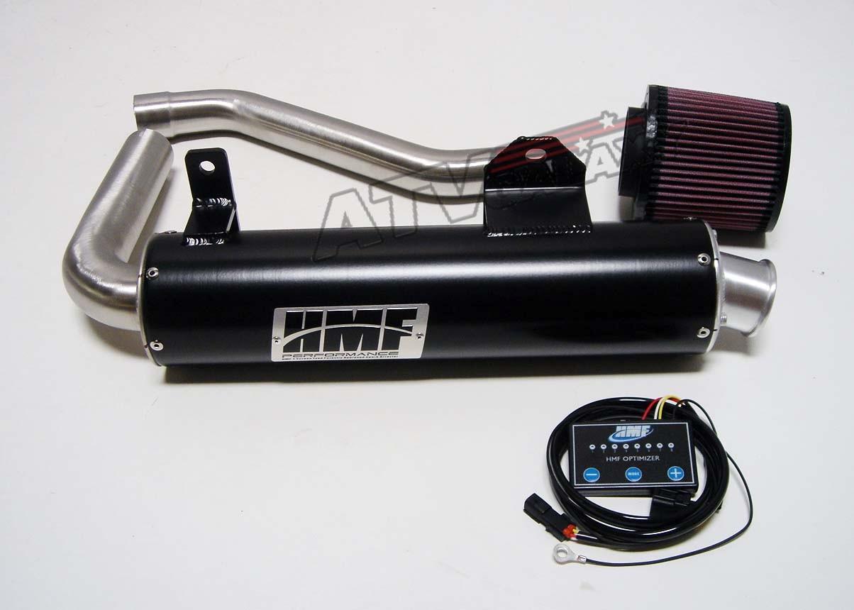 hmf black exhaust pipe muffler k n filter optimizer. Black Bedroom Furniture Sets. Home Design Ideas