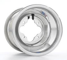 "DWT Blue Label Polished ATV Rear Wheels Rims PAIR 8/""  8X8 3B+5N 4//4 .125 3+5"