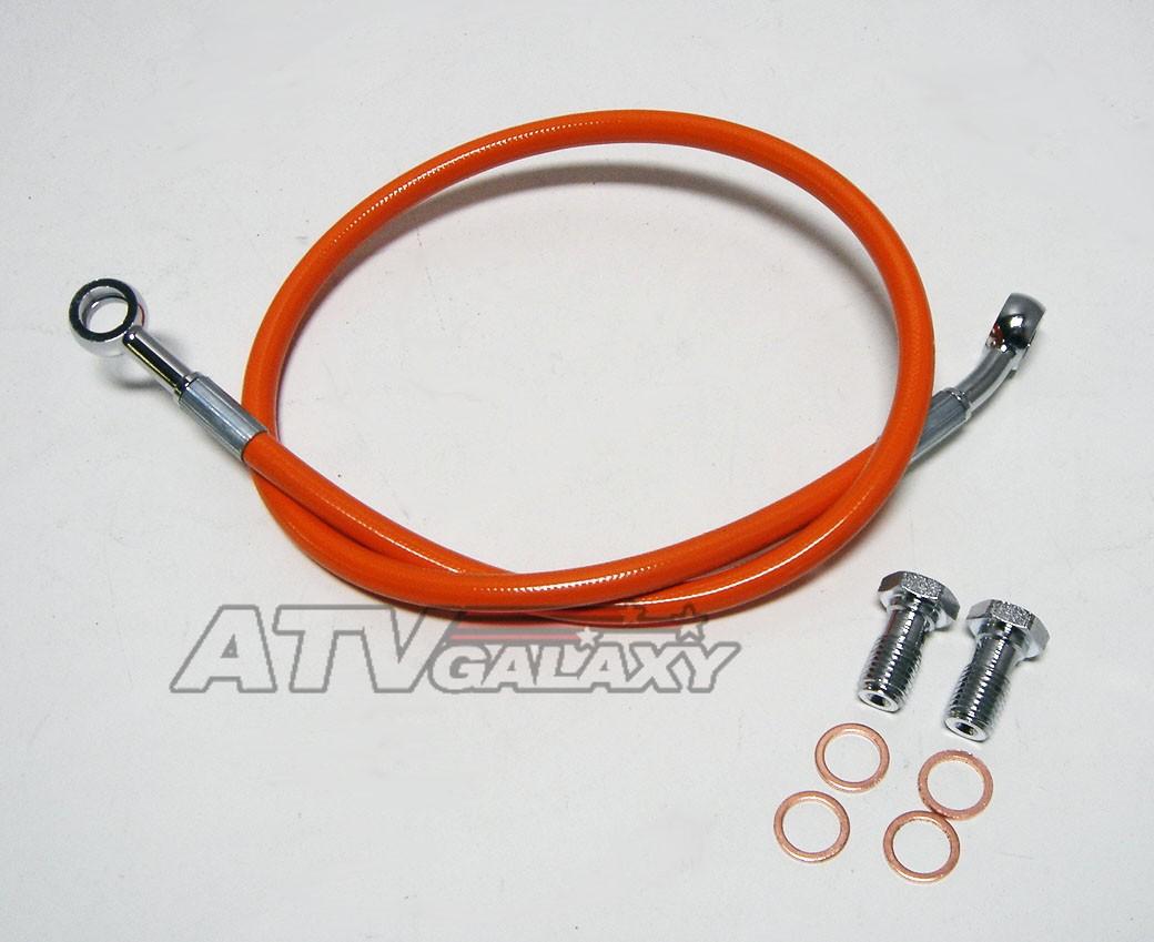 """Streamline 2/"""" Braided Front Brake Lines Honda TRX450R TRX 450 450ER 04 05 06 07"""