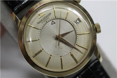 Extremely rare jaeger lecoultre 1960 39 s gold plated memovox 855 alarm date watch ebay for Jaeger lecoultre kinetic