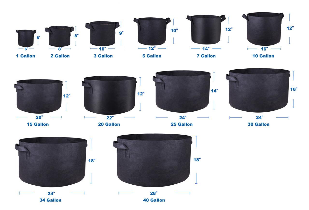 200 Gallon Fabric Grow Pots Breathable