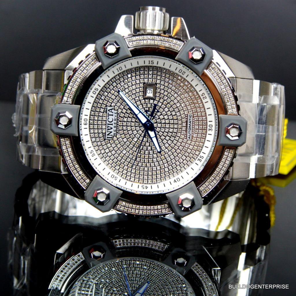 Invicta Reserve Grand Arsenal Octane Automatic 63mm 3.06CTW Diamond Watch New 12