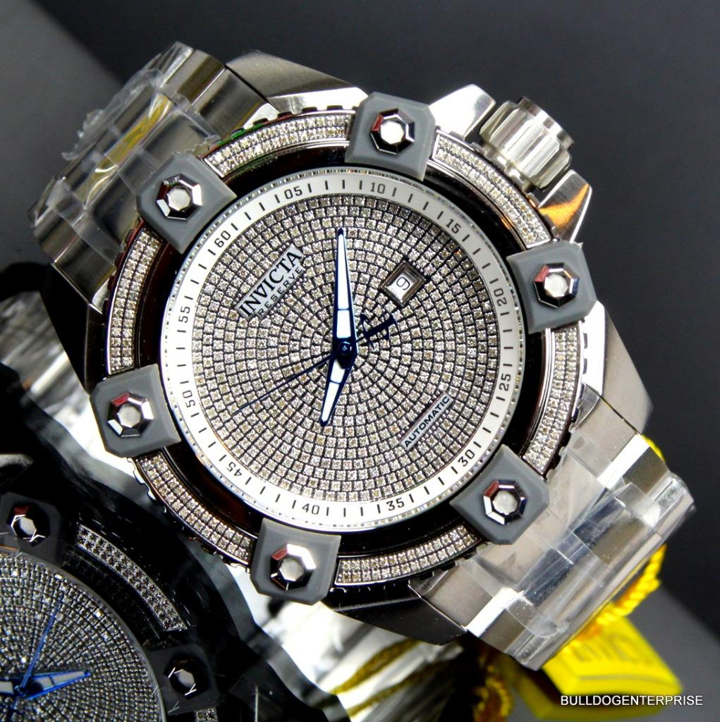 Invicta Reserve Grand Arsenal Octane Automatic 63mm 3.06CTW Diamond Watch New 11