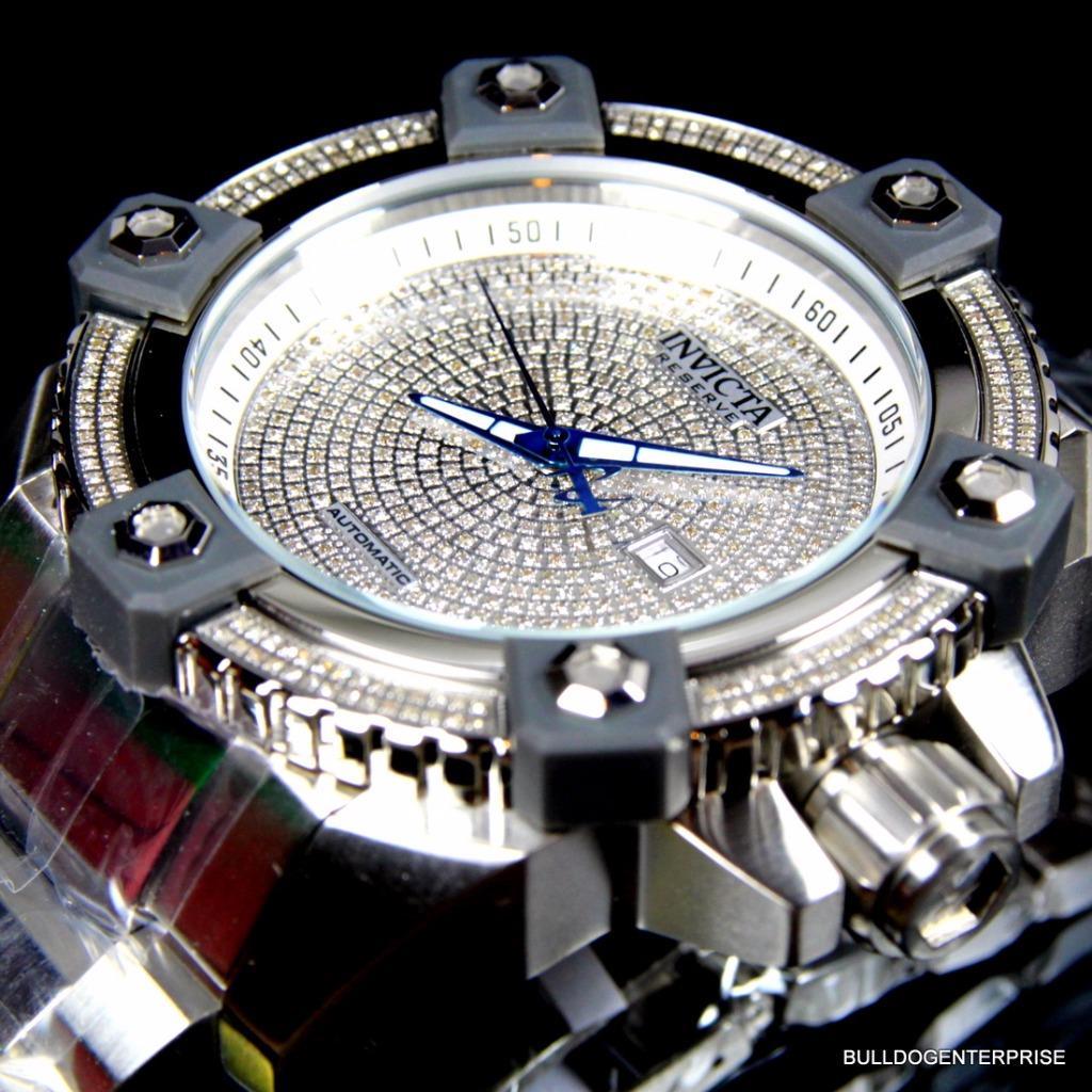Invicta Reserve Grand Arsenal Octane Automatic 63mm 3.06CTW Diamond Watch New 10