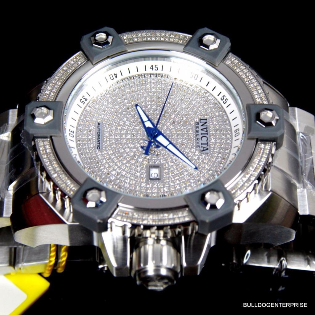 Invicta Reserve Grand Arsenal Octane Automatic 63mm 3.06CTW Diamond Watch New 9