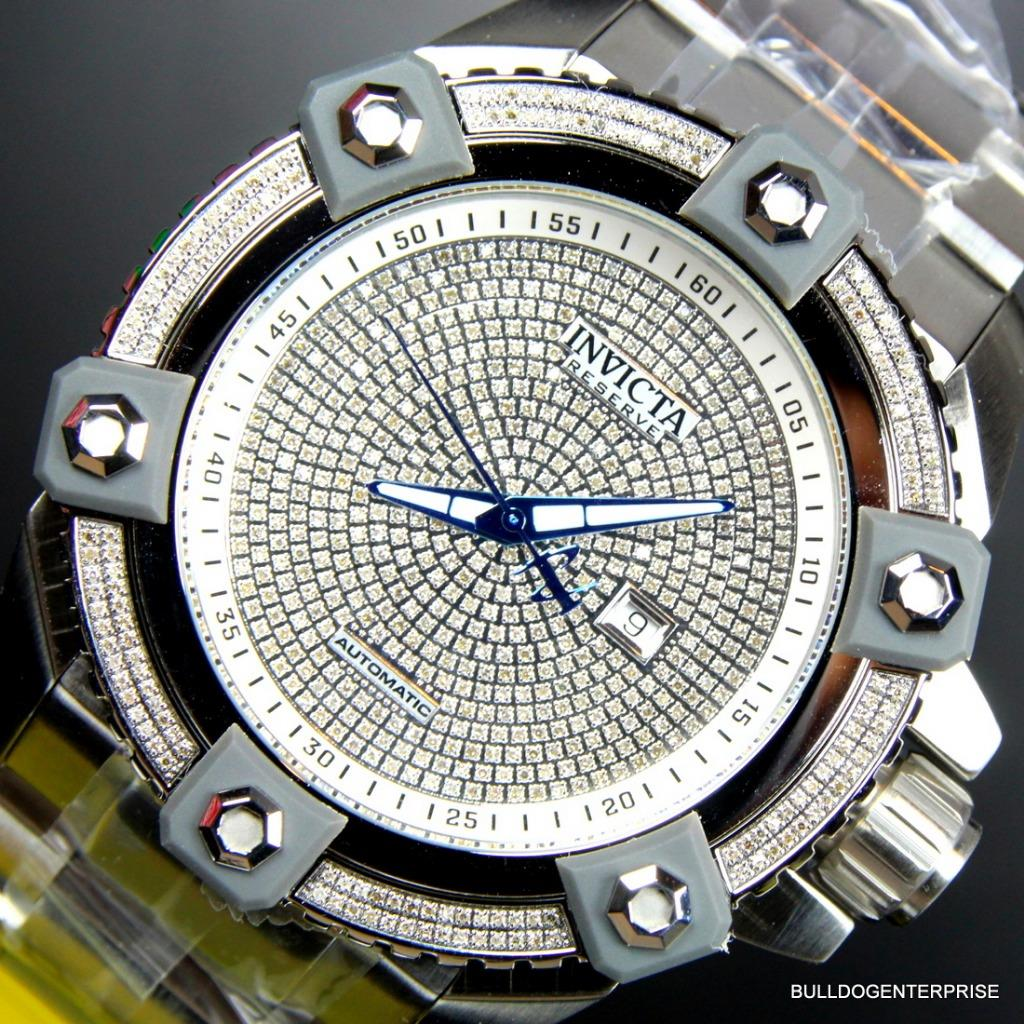 Details about Invicta Reserve Grand Arsenal Octane Automatic 63mm 3 06CTW  Diamond Watch New