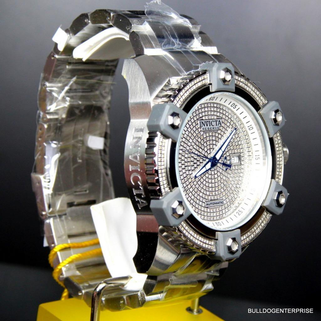 Invicta Reserve Grand Arsenal Octane Automatic 63mm 3.06CTW Diamond Watch New 8