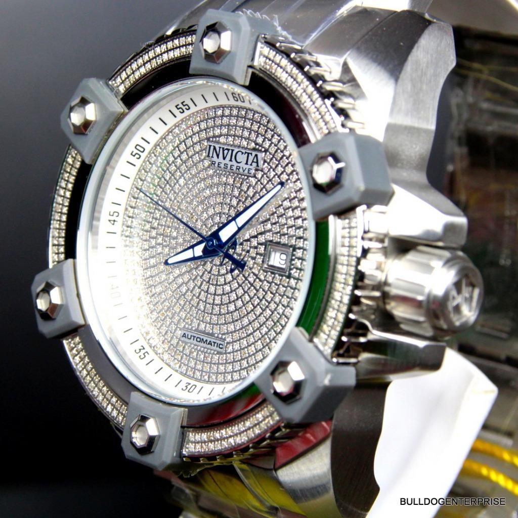 Invicta Reserve Grand Arsenal Octane Automatic 63mm 3.06CTW Diamond Watch New 7