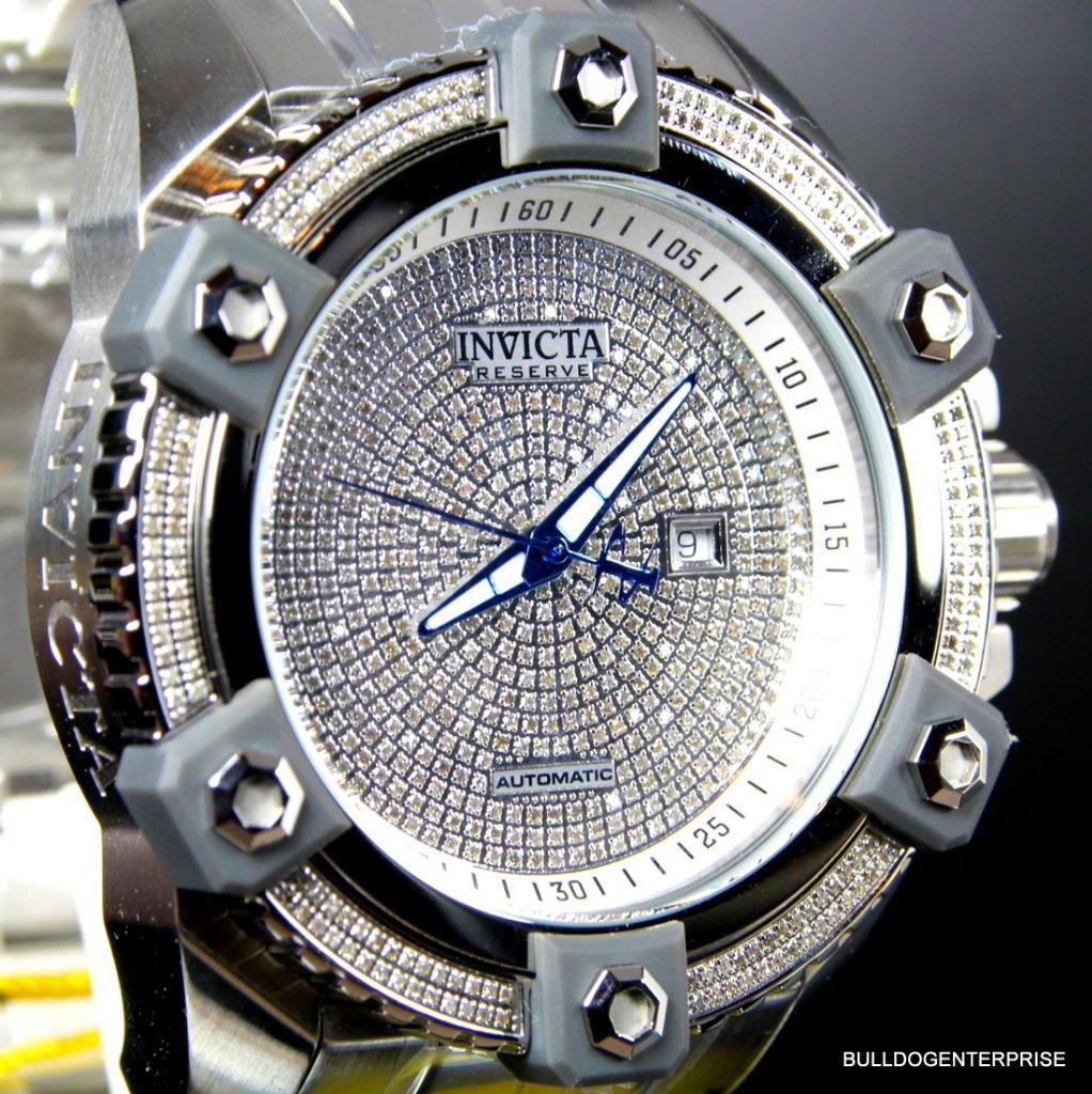Invicta Reserve Grand Arsenal Octane Automatic 63mm 3.06CTW Diamond Watch New 3