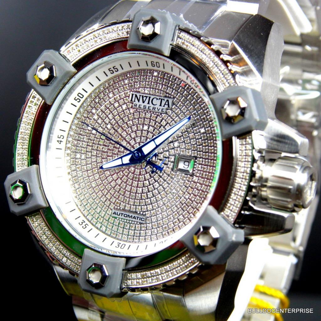 Invicta Reserve Grand Arsenal Octane Automatic 63mm 3.06CTW Diamond Watch New 5