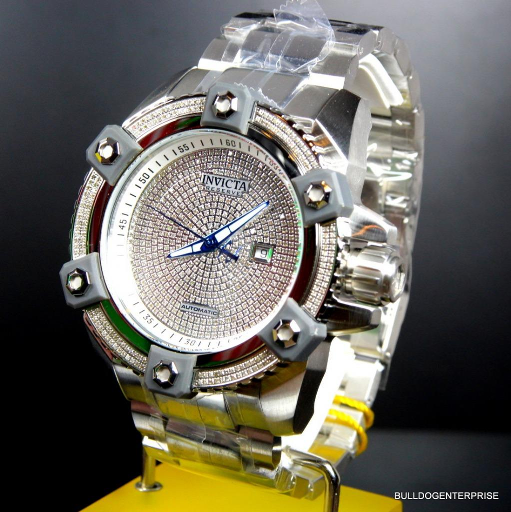 INVICTA RESERVE GRAND Arsenal Octane Automatic 63mm 3 06CTW Diamond Watch  New