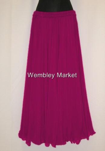 Royal Blue Chiffon Circle Skirt Veil BellyDance Wear Costume Jupe Multi Color NW