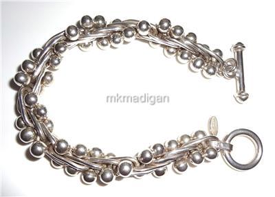 e047d1aab Silpada Rare DNA .925 Sterling Silver Bead Bracelet Retired B0523 Gift