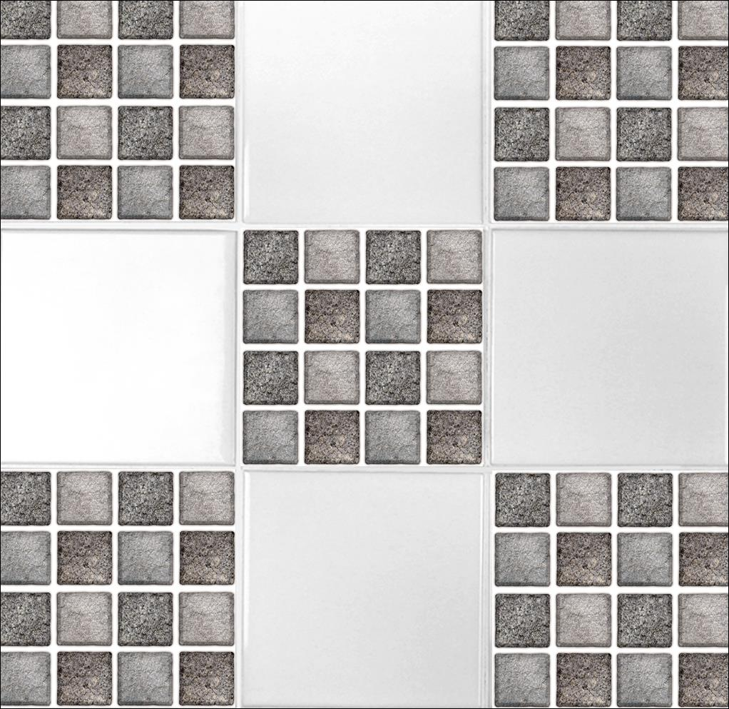 """4 Tile Transfer Stickers 6"""" x 6"""" GRAPHITE MOSAIC for ..."""