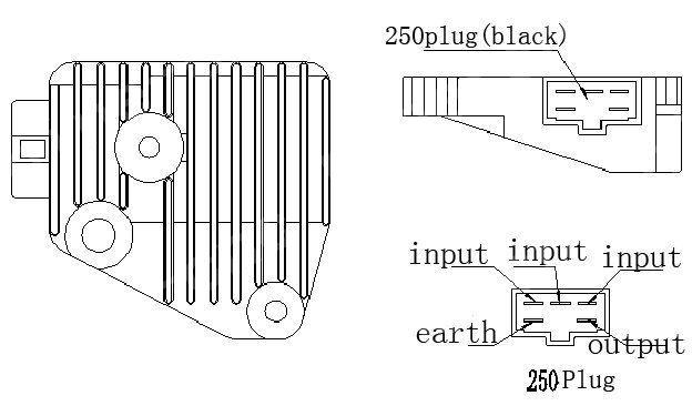 voltage rectifier regulator for yamaha v star xv250 virago. Black Bedroom Furniture Sets. Home Design Ideas