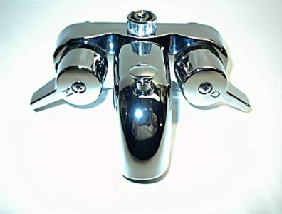 HEAVY DUTY CHROME DIVERTER FAUCET FOR CLAWFOOT TUB ON LEGS WITH SHOWER  ADAPTER | EBay