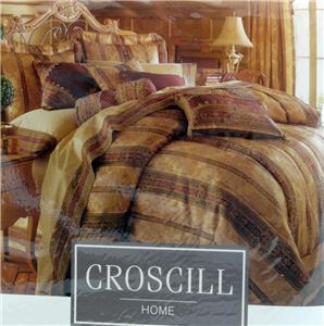 CROSCILL TOWNHOUSE OVERSIZED & OVERFILLED KING COMFORTER ...