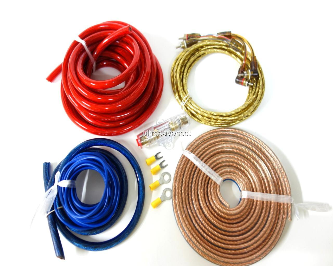 high quality car amplifier power wire wiring amp kit 4. Black Bedroom Furniture Sets. Home Design Ideas