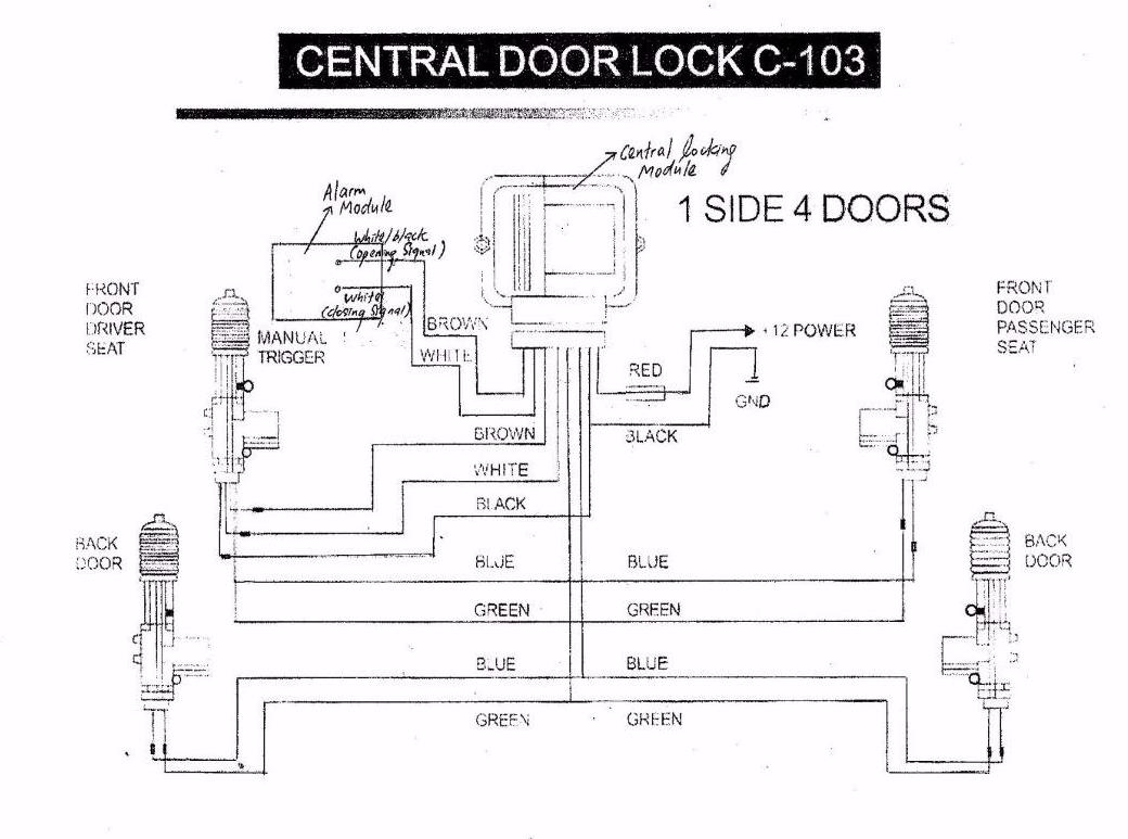The Schematic Of Door Alarm Circuit Peugeot Wiring Diagram Library Tamarack Central Locking Another Blog About 1999 Mustang Lock