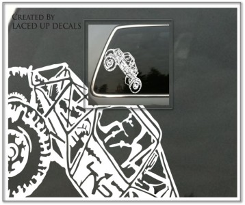 rock crawler 4x4 off road comp 4wd rubicon vinyl decal