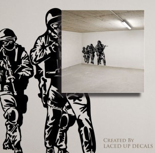 Soldiers Huge Wall Vinyl Decal,seal team 6 st6 DEVGRU Delta force on