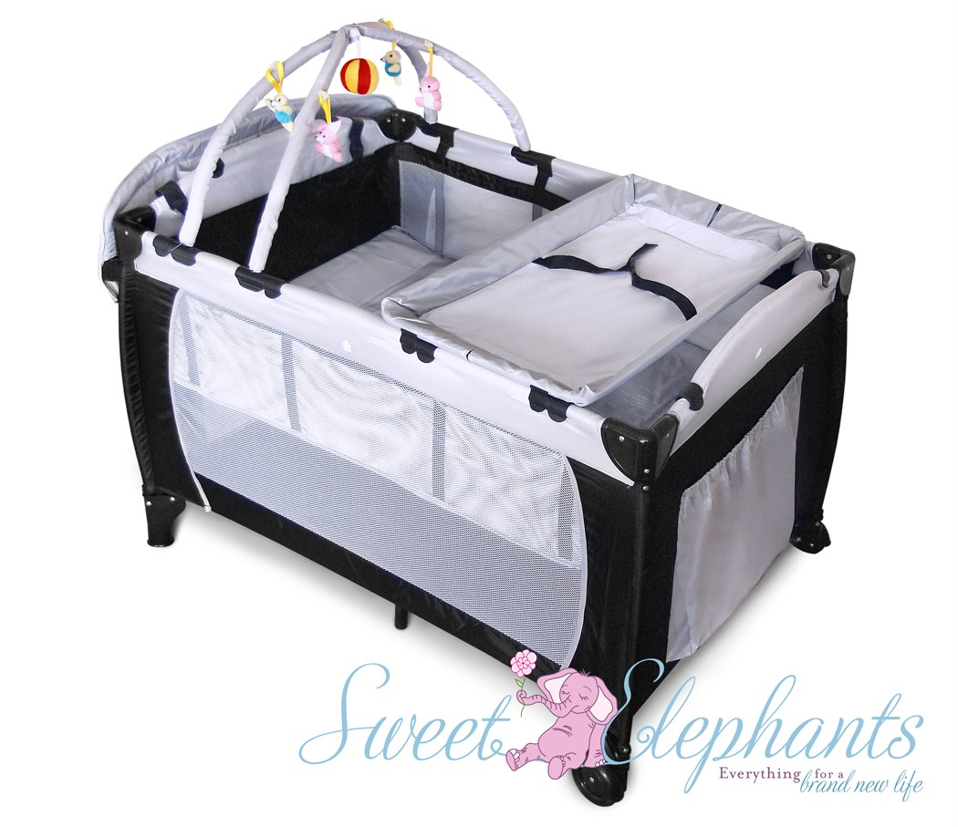 NEW SAFE 7 In 1 BABY PORTABLE TRAVEL COT BASSINET PLAYPEN PORTACOT CHANGE  TABLE | EBay