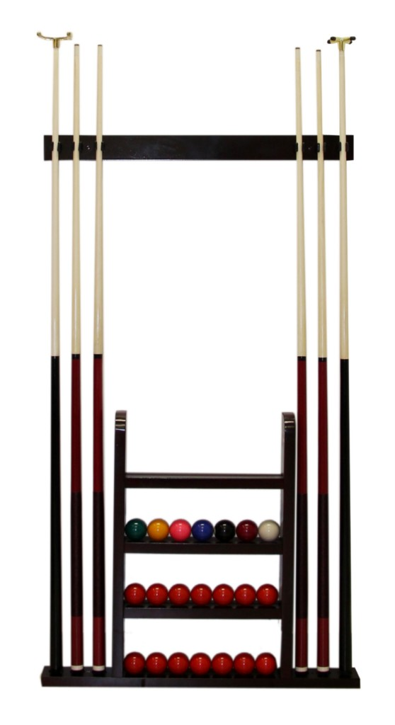 Pool Cue Rack Amp Ball Rack Wooden Wall Mounted New Ebay