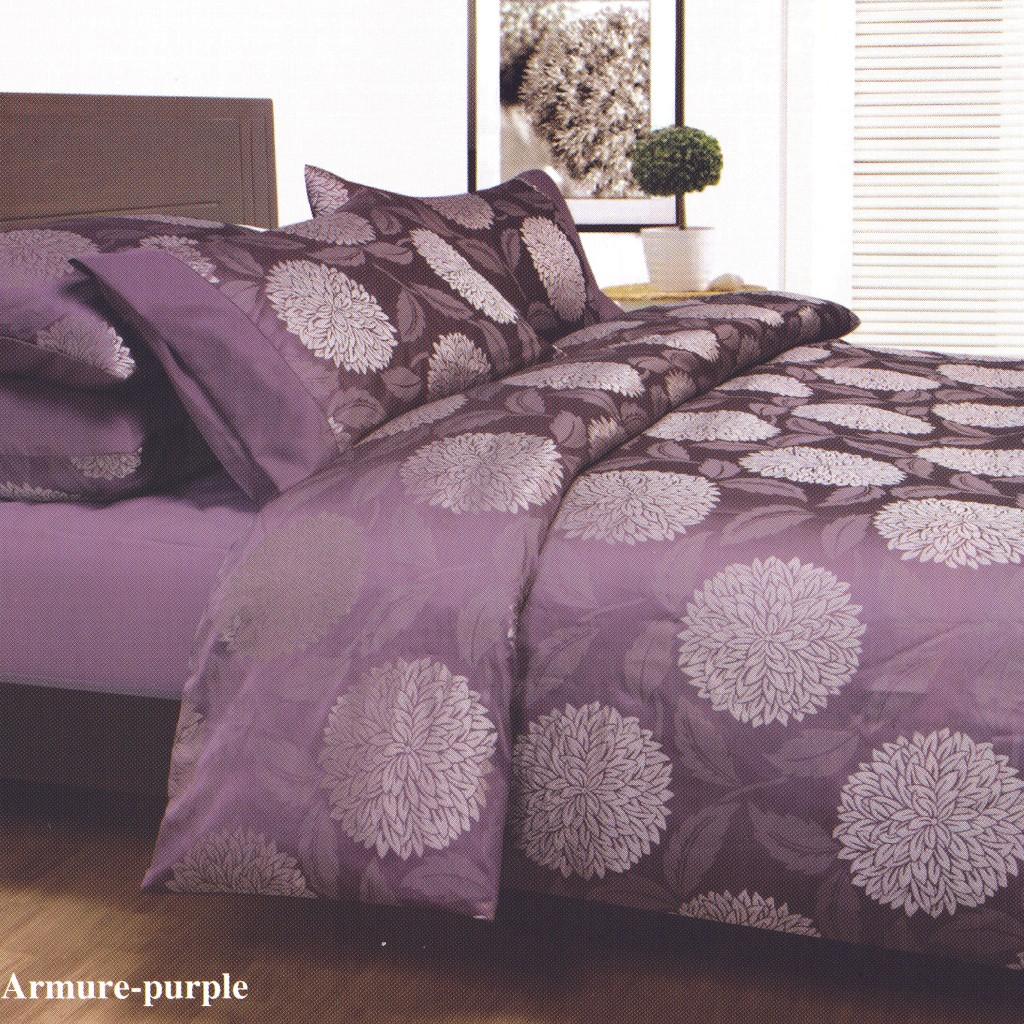 Armure Purple Plum Queen Jacquard Quilt Doona Duvet Cover Set Brand