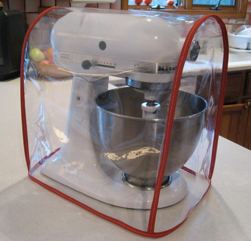 Clear Mixer Cover Fits Kitchenaid Artisan Tilt Head Red