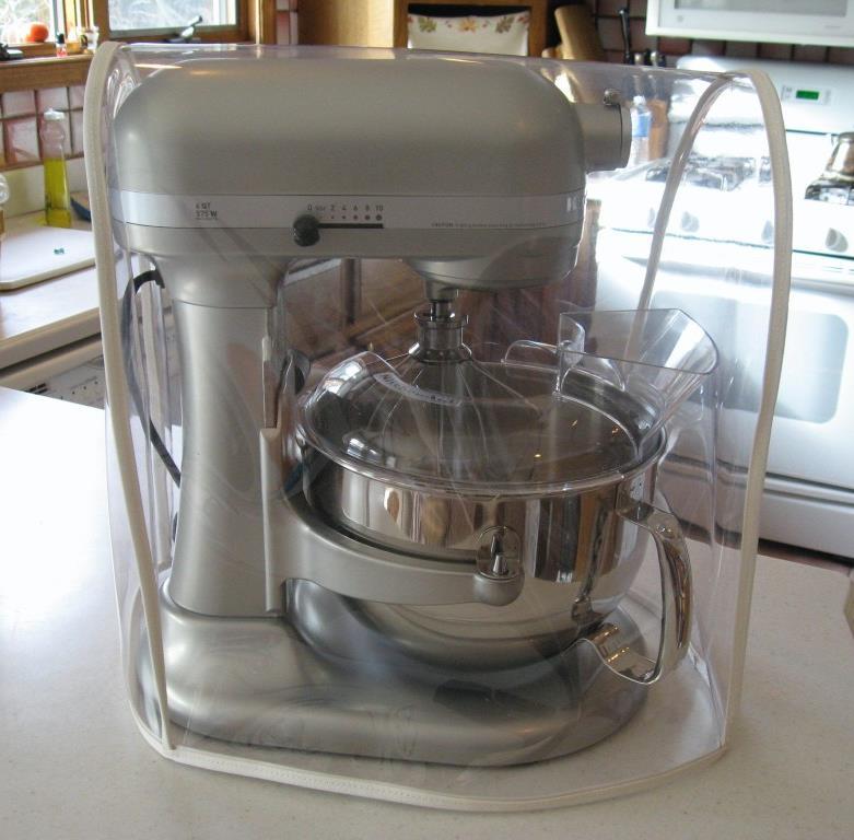 Clear Mixer Cover W Tan Trim Fits Kitchenaid Bowl Lift