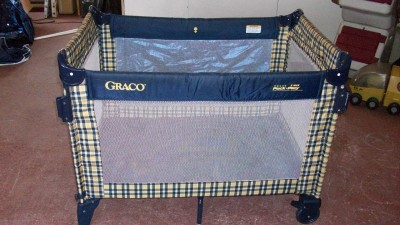 Graco 5 Way Travel Pack N Play Playard Dark Blue Amp Yellow