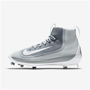 newest b988b ceccc Nike Huarache 2KFilth Elite Mid Metal Baseball Cleats Sz 9 Gray White