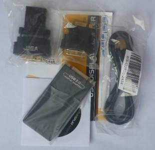USB to DVI/VGA/HDMI display video adapter converter NEW