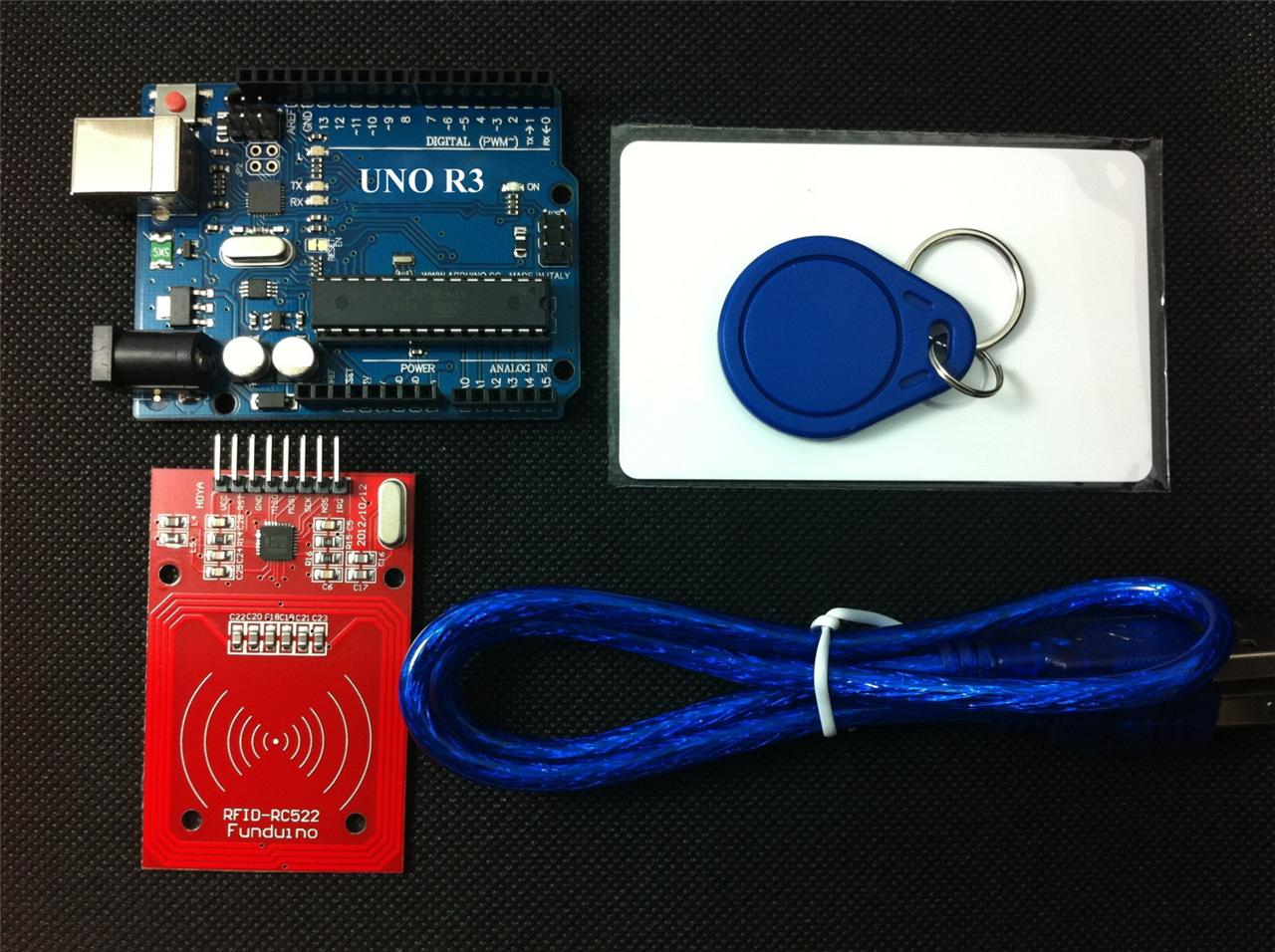 Details about [Sintron] UNO R3 Board with RC522 RFID Reader Kit + PDF for  Arduino AVR Learner