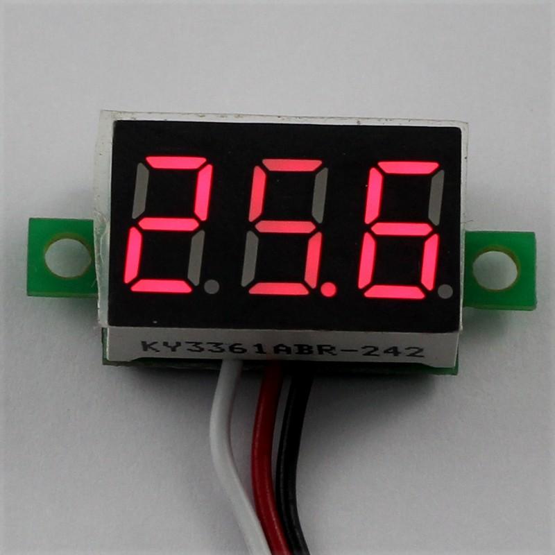 In Dash Digital Voltmeters : Dc v wire red led display digital voltage voltmeter