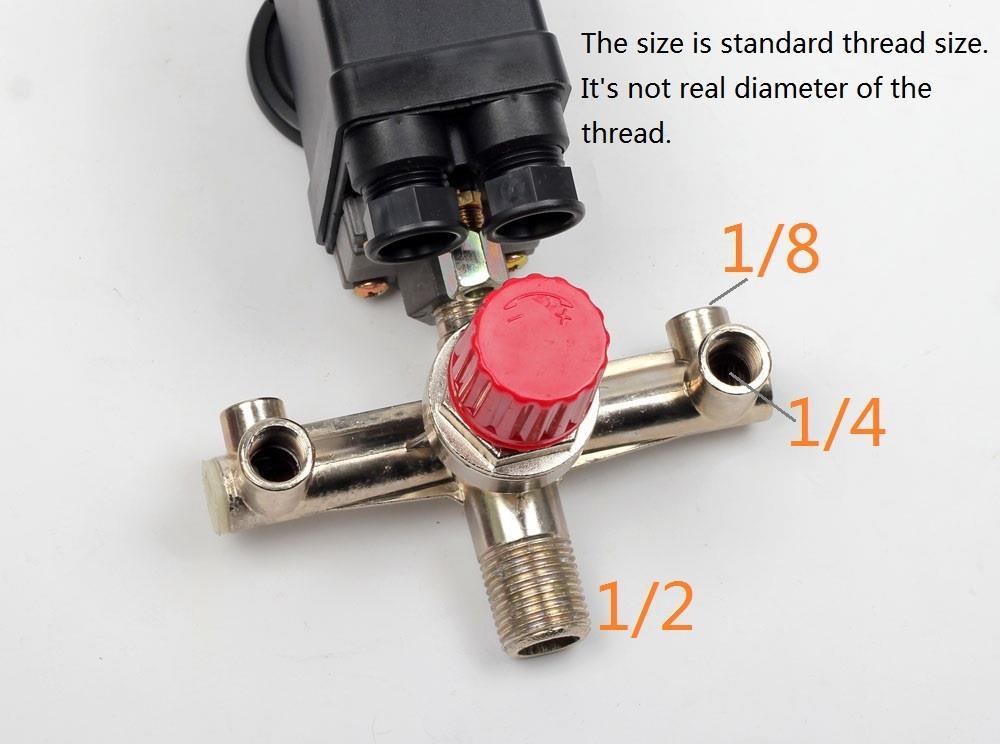 90 120psi Air Compressor Pressure Switch Manifold