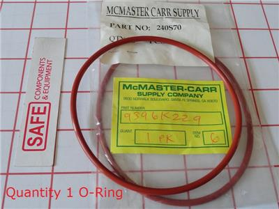 """70A Durometer 1-1//2/"""" ID Red 1//8/"""" Width Pack 1-3//4/"""" OD 222 Silicone O-Ring"""