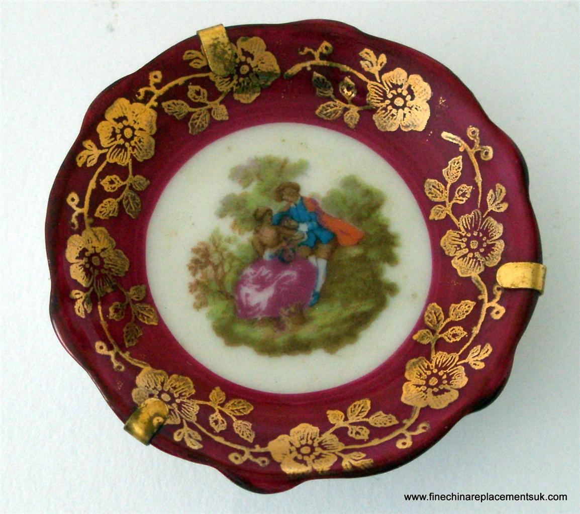 Limoges Miniature Porcelain Fragonard Lover's Scene Plate