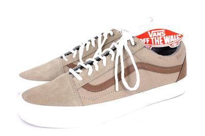 0255b9e912 NEW mens brown white VANS skate shoes casual canvas leather sneakers laceup  10 M