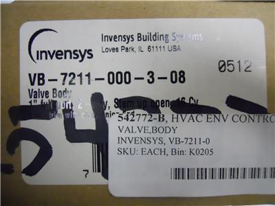 Home Improvement Invensys Vb-7211-000-3-08 Valve Body 542772