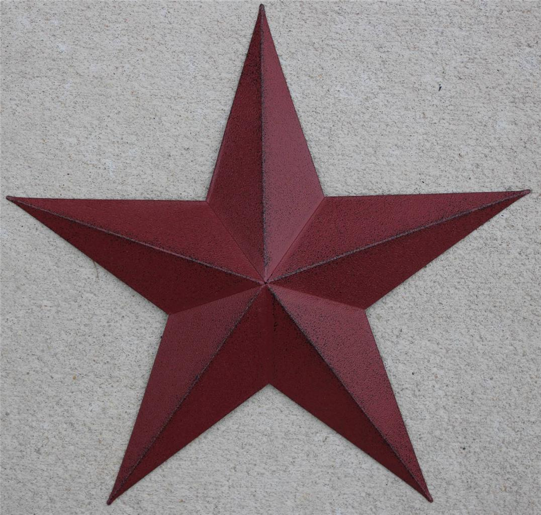 "New Americana Metal Star 24"" Country Wall Decor Rustic Red"