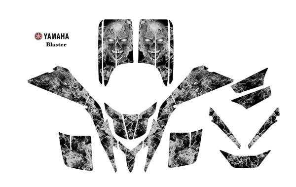 Yamaha Blaster ATV Graphic Decal kit #9500Metal Zombie