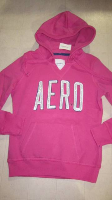 Aeropostale Womens Hoodie Pull Over Sweater Jacket Pink ...