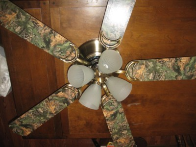 New 52 Quot Ceiling Fan With Realtree Camo Blades Cabin Decor Rustic Ebay